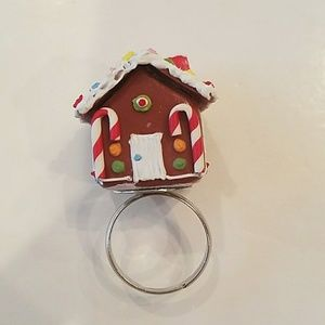 GASOLINE GLAMOUR gingerbread house ring